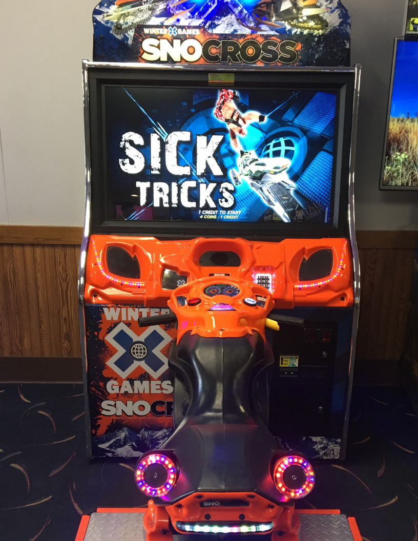 games | snocross game | family fun | odyssey fun center | sheboygan, wi