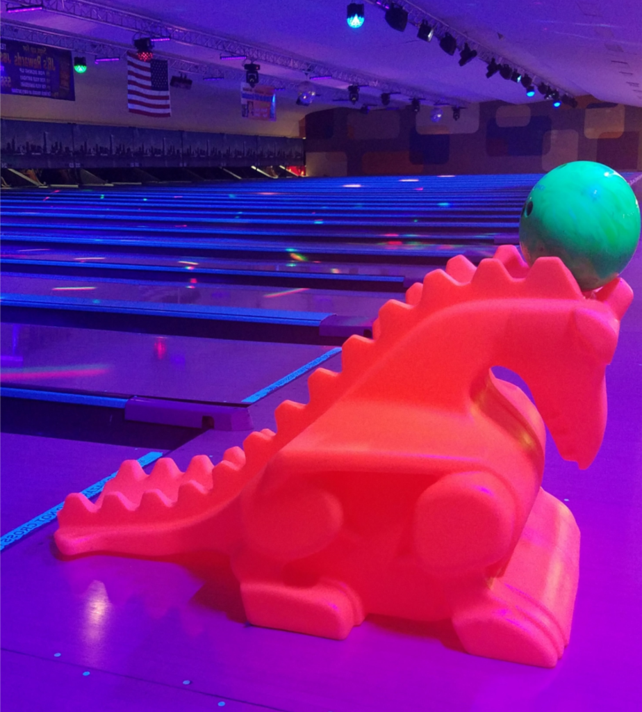 Glow Bowling Dragon Ramps | Galactic Bowling for Kids | Odyssey Fun Center | Sheboygan Falls WI