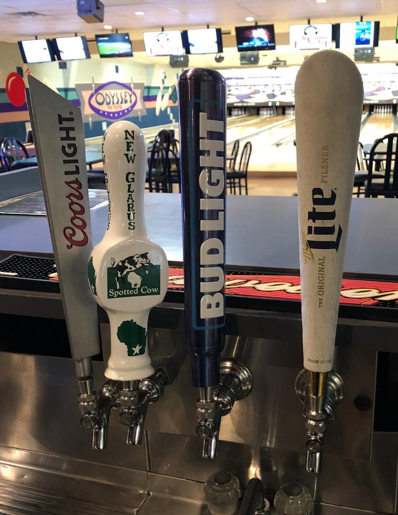tap beer | odyssey bar & grill | odyssey fun center | sheboygan, wi
