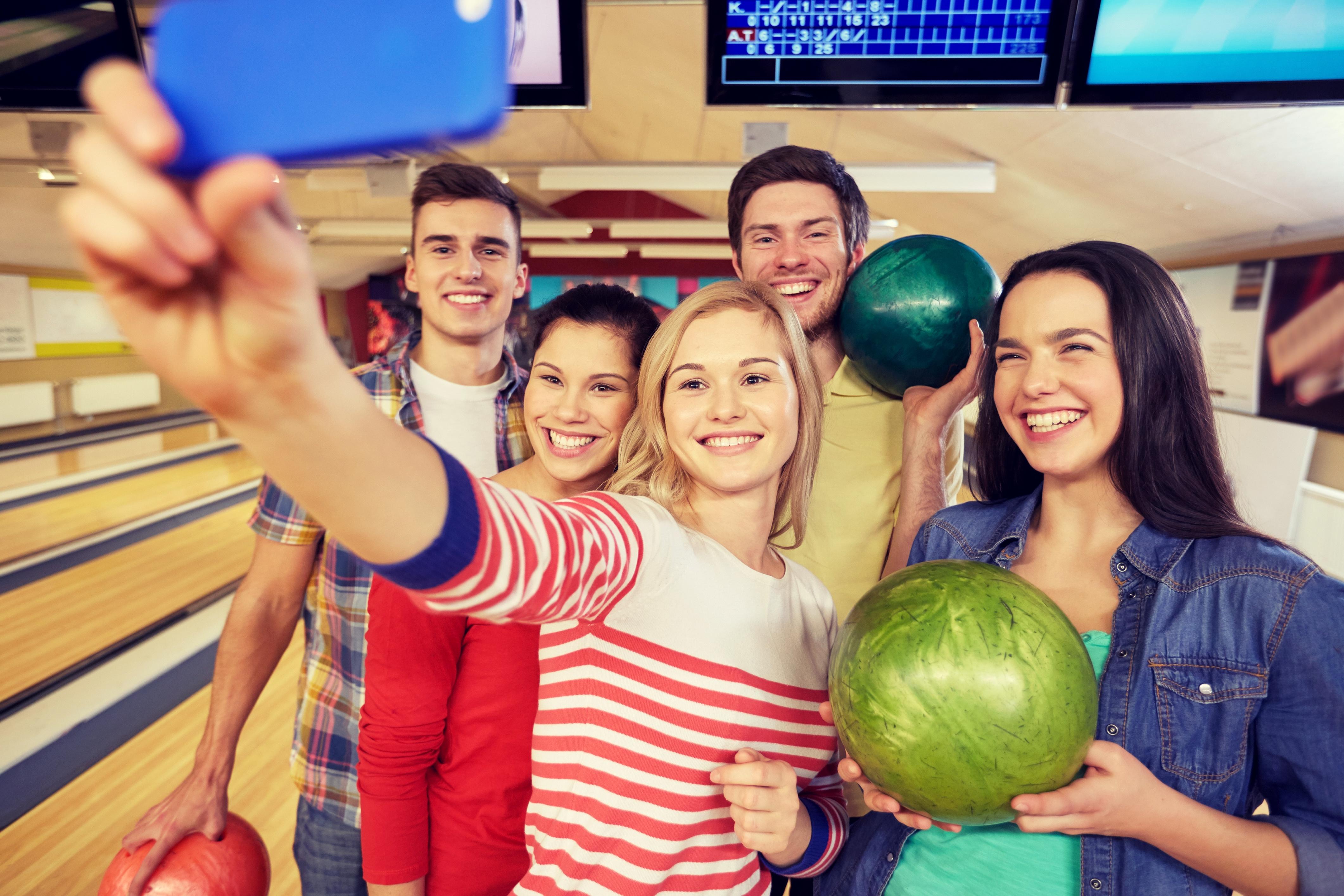 bowling selfie   bowling in a group   social bowling   open play bowling   open bowling   odyssey fun center   sheboygan, wi