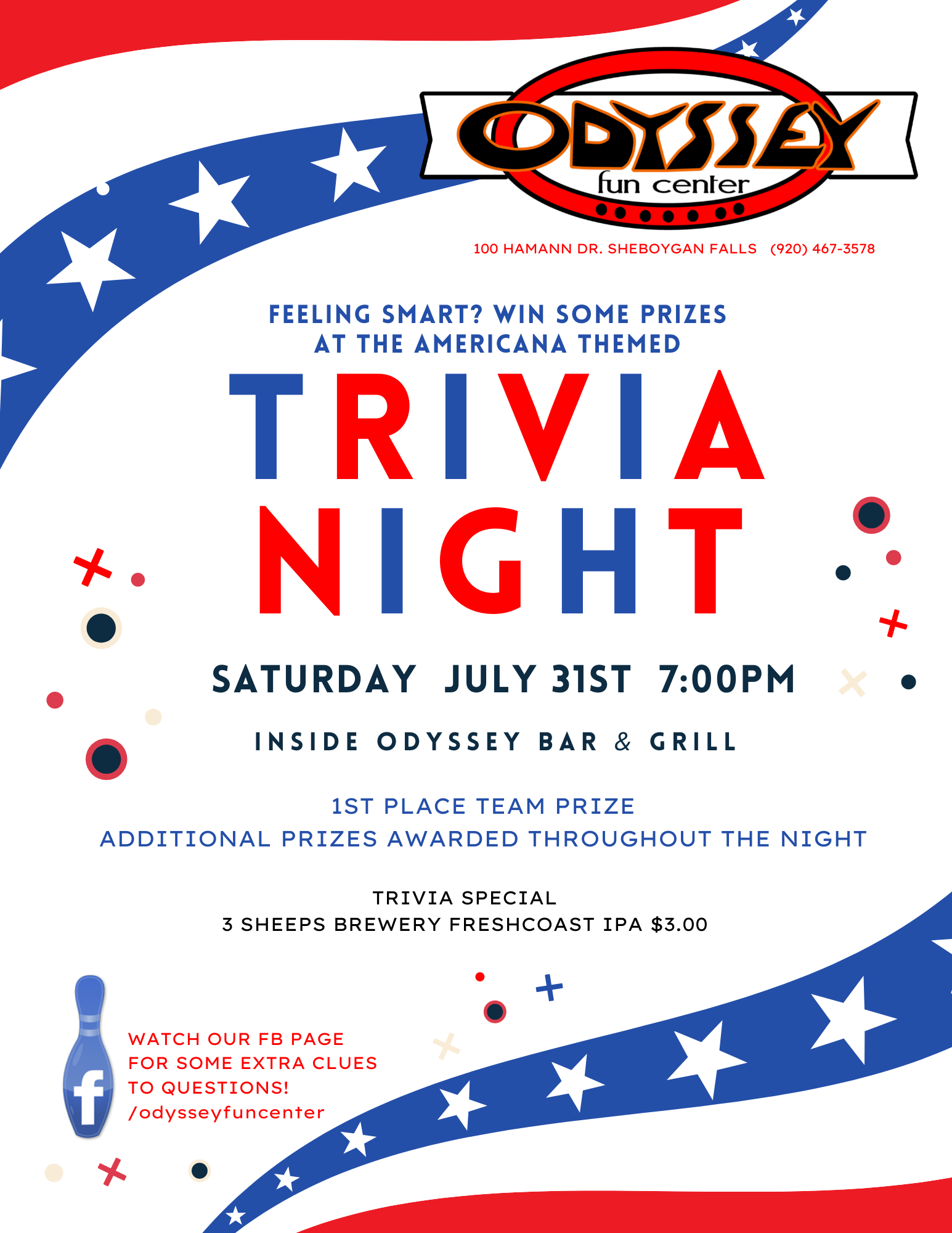 Trivia Night   Odyssey Fun Center   Sheboygan WI
