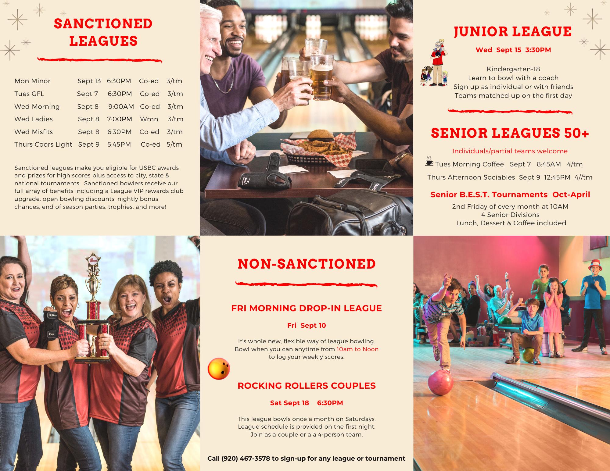 Fall League Bowling | Odyssey Fun Center | Sheboygan Falls WI