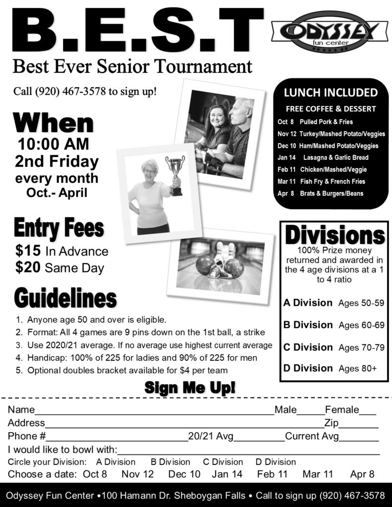 Senior Bowling Tournament | Odyssey Fun Center | Sheboygan WI